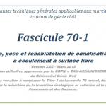 Mars 2019 – Mise en ligne de la nouvelle version du fascicules 70-1